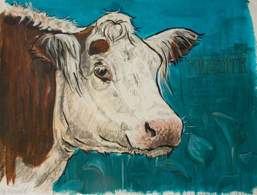 Cow painting art