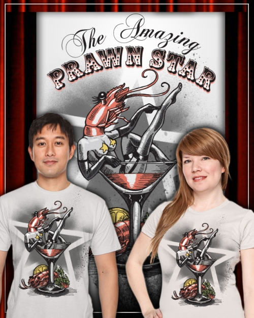 The Amazing Prawn Star T shirt design