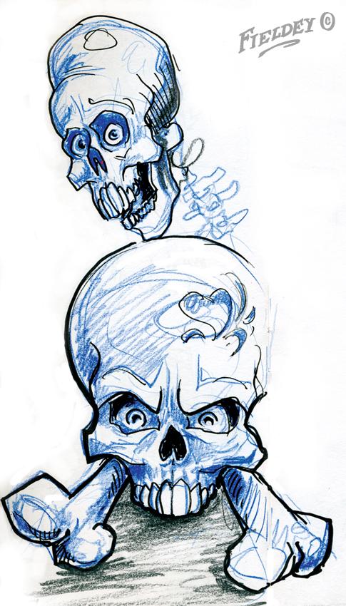 Angry Skulls Drawing