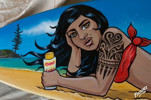 Close up of Polynesian Mermaid with Chiko Roll