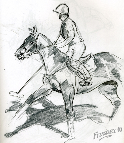 Polo pony sketch from London