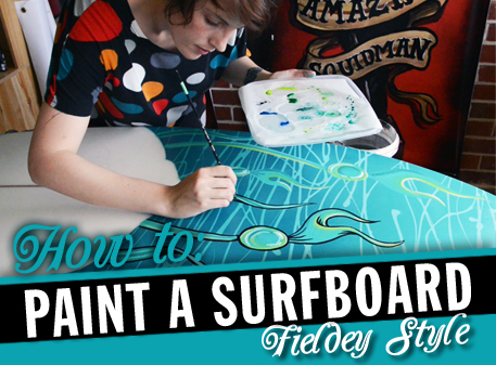How to paint a surfboard by Fieldey