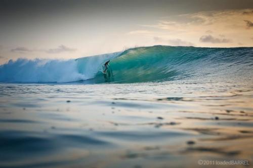 Surfing, Bali, Loaded Barrel
