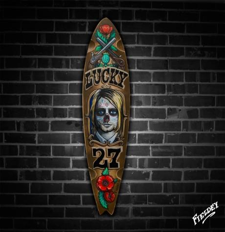 Day of the Dead Kurt Cobain Skateboard deck