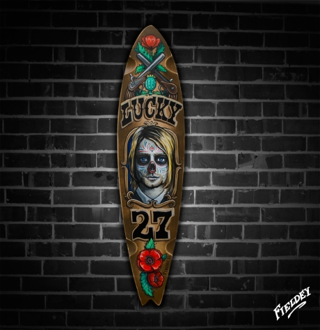 Day of the Dead Kurt Cobain Skateboard deck