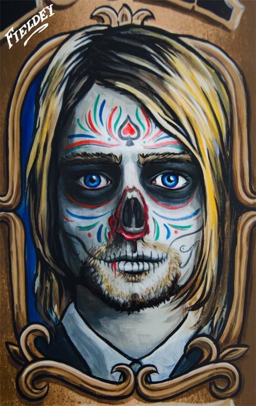 Día de los muertos Kurt Cobain Zombie