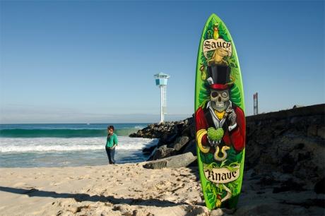 Surfart on City Beach in Perth, Western Australia