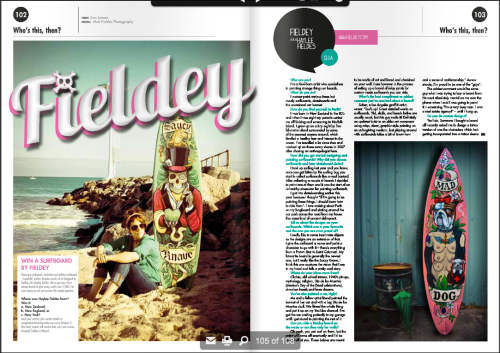 Interview with Fieldey in Rock Candy Magazine