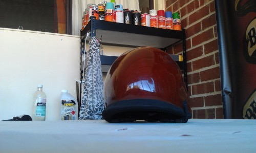 Surf helmet before painting