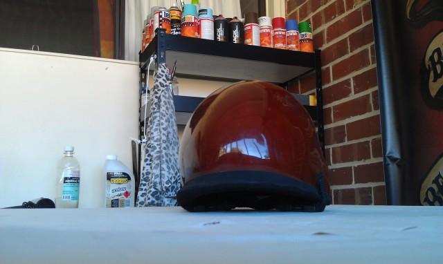 Surf helmet before painting