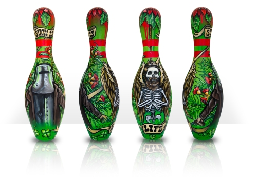Custom painted bowling pin