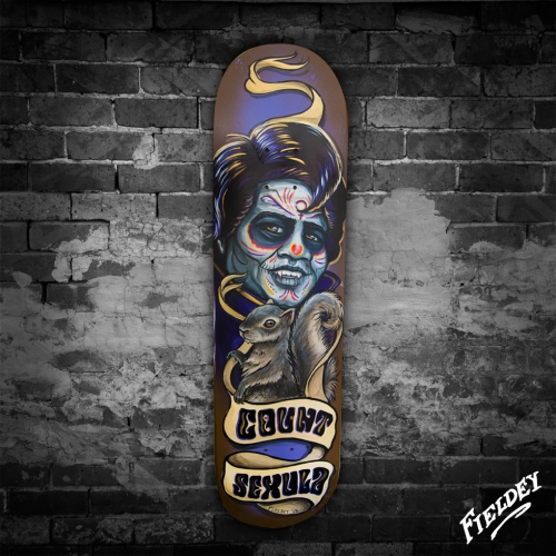 Count Sexula James Brown Custom painted skateboard deck commission