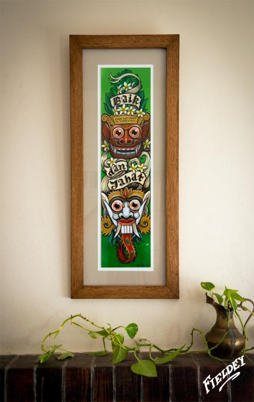 Framed custom artwork