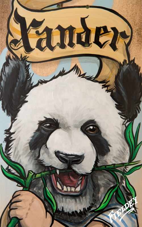 Xander the Panda Skateboard commission