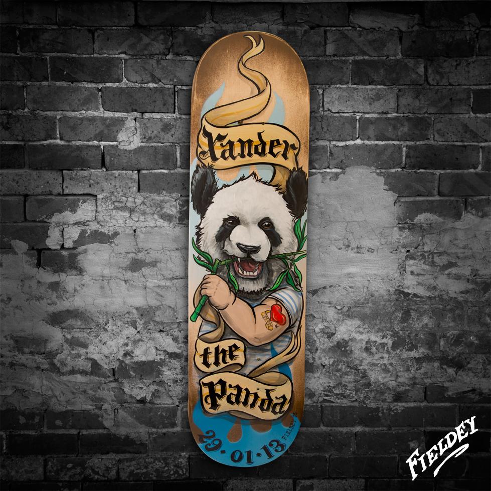 Skateboard fieldey art for Best paint for skateboard decks