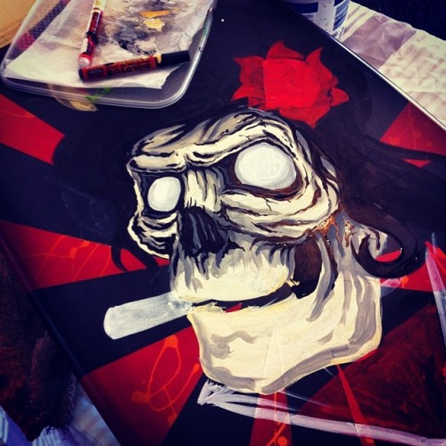 Skull Painting at the Margaret River Pro