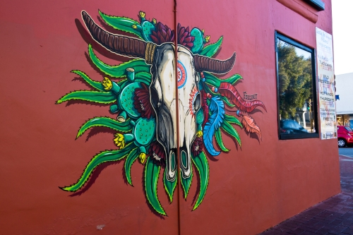 Street art mural at Santa Fe Restaurant in Subiaco, Perth