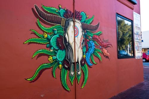 Street art mural at Santa Fe Restaurant in Subiaco, Perth