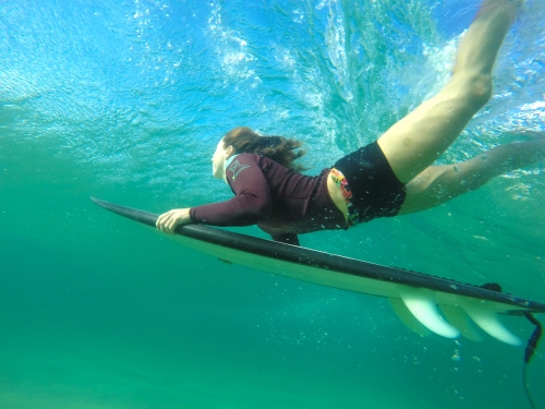 Venus Goes Gidget under the waves