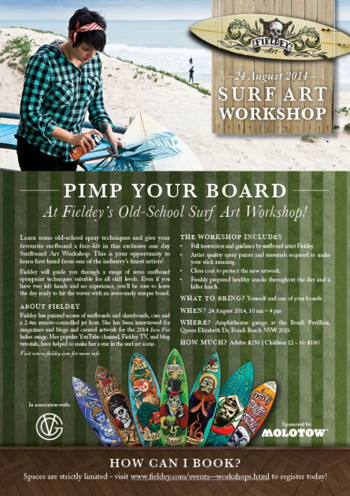 Bondi Surfboard painting workshop