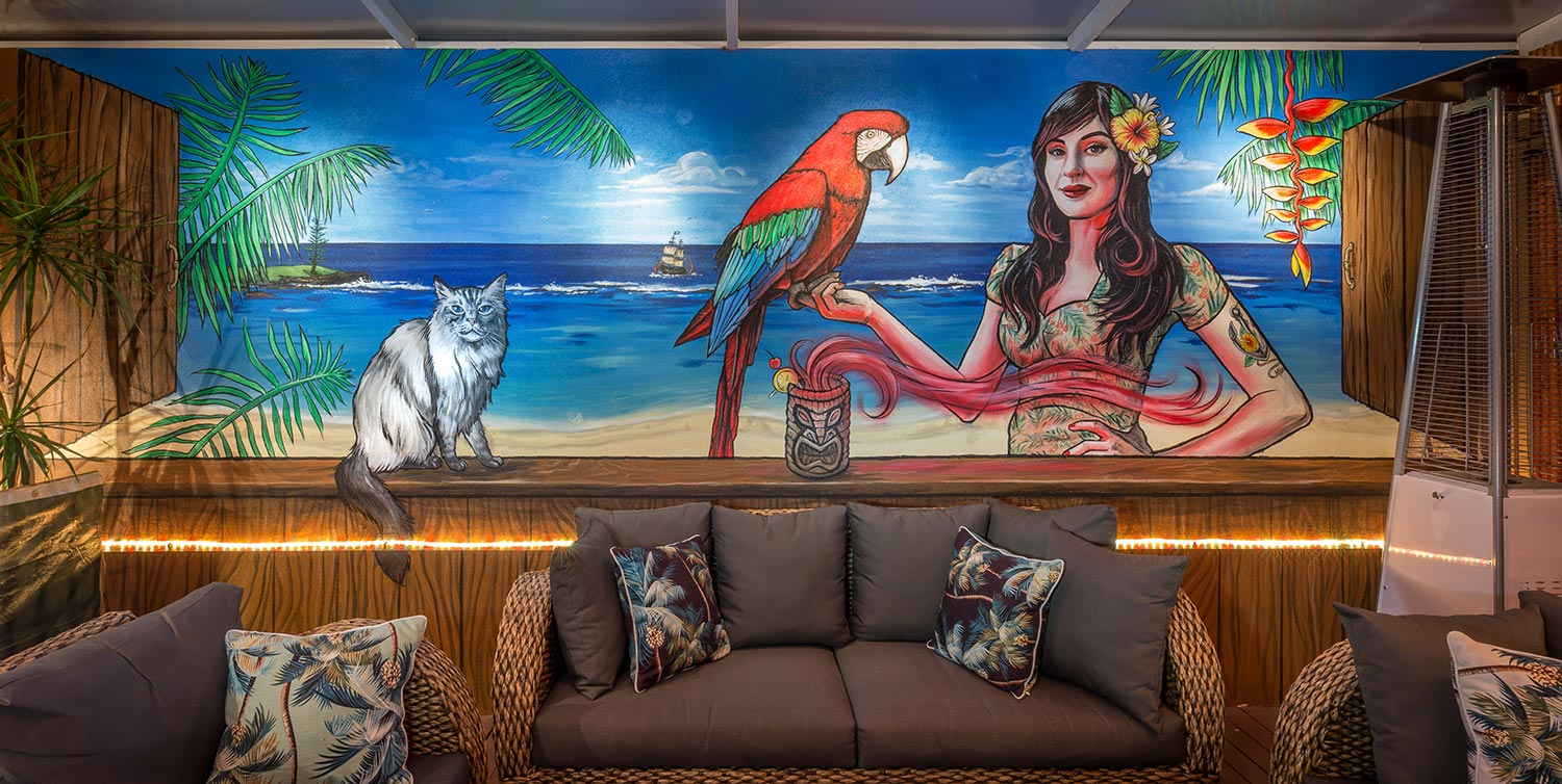 tiki bar wall mural for streets of perth fieldey art. Black Bedroom Furniture Sets. Home Design Ideas