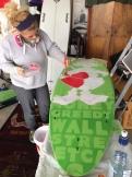 Surfboard painting workshop