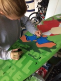 Surfboard painting workshop with Scrooge McDuck